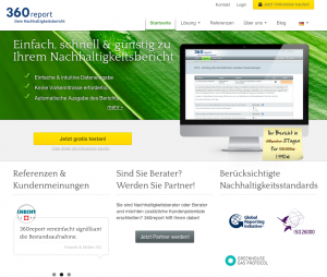 360report GmbH Launch Webseite